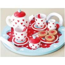 Indigo Jamm hearts tea set