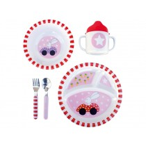 JaBaDaBaDo dinnerware rabbit red