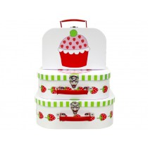 Jabadabado suitcases with strawberry muffin