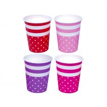 JaBaDaBaDo party cups pink