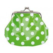 JaBaDaBaDo purse with dots in green