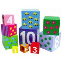 JaBaDaBaDo stacking cubes with numbers