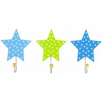 JaBaDaBaDo clothes hook stars blue