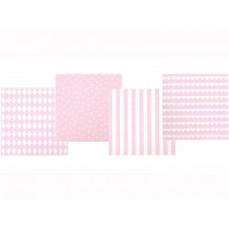 JaBaDaBaDo party napkins light pink and white
