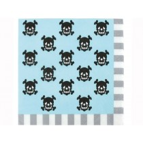 JaBaDaBaDo party napkins PIRATES light blue