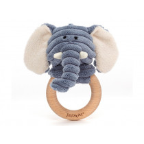 Jellycat Cordy Roy Baby ELEPHANT Wooden Ring Toy