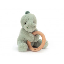 Jellycat Shooshu Wooden Ring Toy DINO