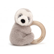 Jellycat Shooshu Wooden Ring Toy SLOTH