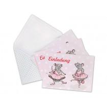 krima & isa invitation postcard set: Ballet Rat