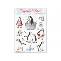 krima & isa window sticker: Penguins