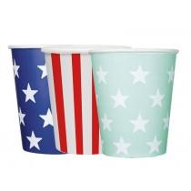 krima & isa paper cups stars & stripes