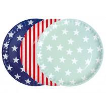 krima & isa paper plates stars & stripes