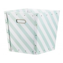 Kids Concept storage box striped green and white