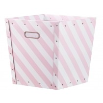 Kids Concept storage box striped pink and white