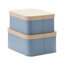 Kids Concept storage box 2-set BLUE