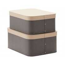 Kids Concept storage box 2-set GREY