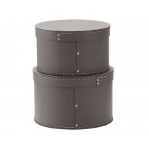 Kids Concept storage box round 2-set GREY