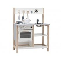 Kids Concept play kitchen natural/white