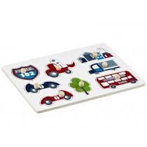 Kids Concept knob puzzle cars