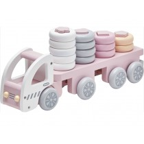 Kids Concept truck sorting soft pink