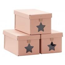 Kids Concept shoe boxes 3-set PASTEL PINK
