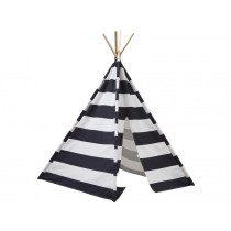 Kids Concept tipi play tent BLACK & WHITE