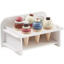 Kids Concept Ice Cream Set with Rack