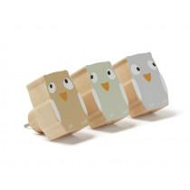 Kids Concept HOOKS Owl Edvin Set of 3