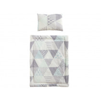 Kids Concept Doll Bedding Set TRIANGLES grey