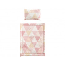 Kids Concept Doll Bedding Set TRIANGLES pink