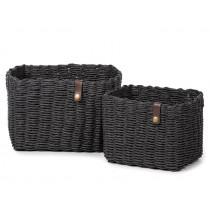 KidsDepot Woven Basket Set Nouk BLACK