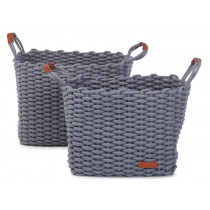 KidsDepot Woven Basket Set DENGU grey