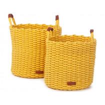 KidsDepot Woven Basket Set KORBO L yellow