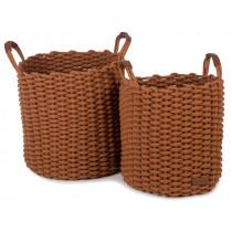 KidsDepot Woven Basket Set KORBO L copper