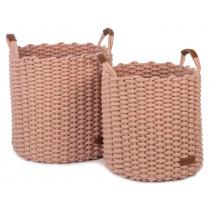 KidsDepot Woven Basket Set KORBO L rose