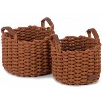 KidsDepot Woven Basket Set KORBO M copper