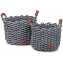 KidsDepot Woven Basket Set KORBO M mist