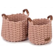 KidsDepot Woven Basket Set KORBO M rose