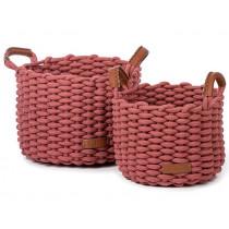 KidsDepot Woven Basket Set KORBO M terra
