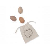Konges Slojd 3 Wooden Egg Rattles ROSE