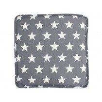 Krasilnikoff box cushion cover charcoal with diagonal flower print