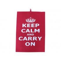 Krasilnikoff tea towel Keep calm red