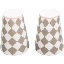 Krasilnikoff salt and pepper set harlekin beige