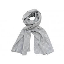 Krasilnikoff scarf grey with diagonal flower print