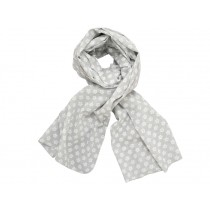 Krasilnikoff scarf grey wih retro flowers