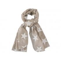 Krasilnikoff scarf mega stars taupe