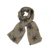 Krasilnikoff scarf taupe charcoal stars