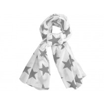 Krasilnikoff scarf white stars charcoal
