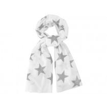 Krasilnikoff scarf white stars light grey