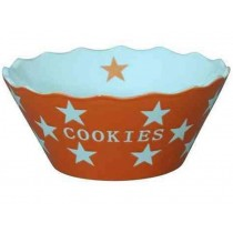 Krasilnikoff Happy Stars Cookies Bowl orange